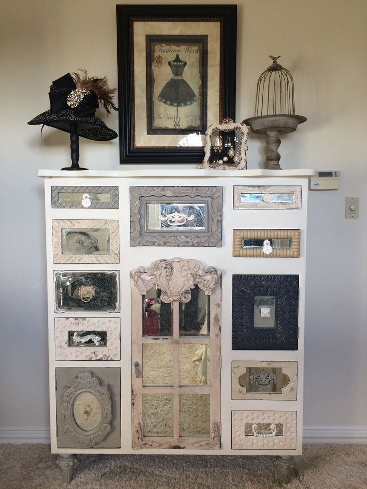 One of my most prized possessions! This #eccentric dresser was the perfect piece for my #French influenced guest room. #DonnaMossDesigns