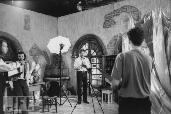 Actor Terence Ford at Riviera TV-series shot (1992).