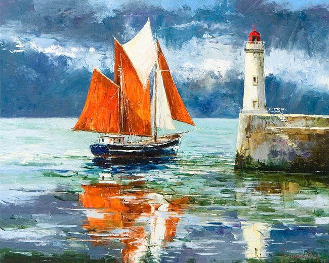 The Lighthouse by Gleb Goloubetski, Oil on Canvas, 80cmx100cm