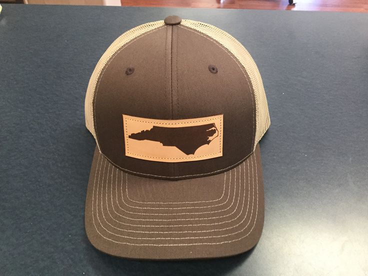 North Carolina Outline Leather Patch Hat Brown/Khaki