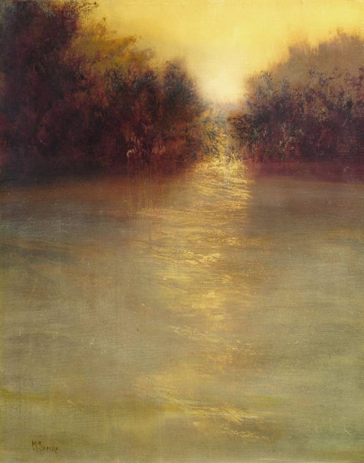 Maurice Sapiro | River run. oil on canvas
