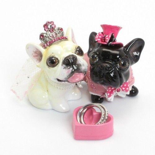 Dog Wedding Cake Topper French Bulldog Lover Handmade Decor