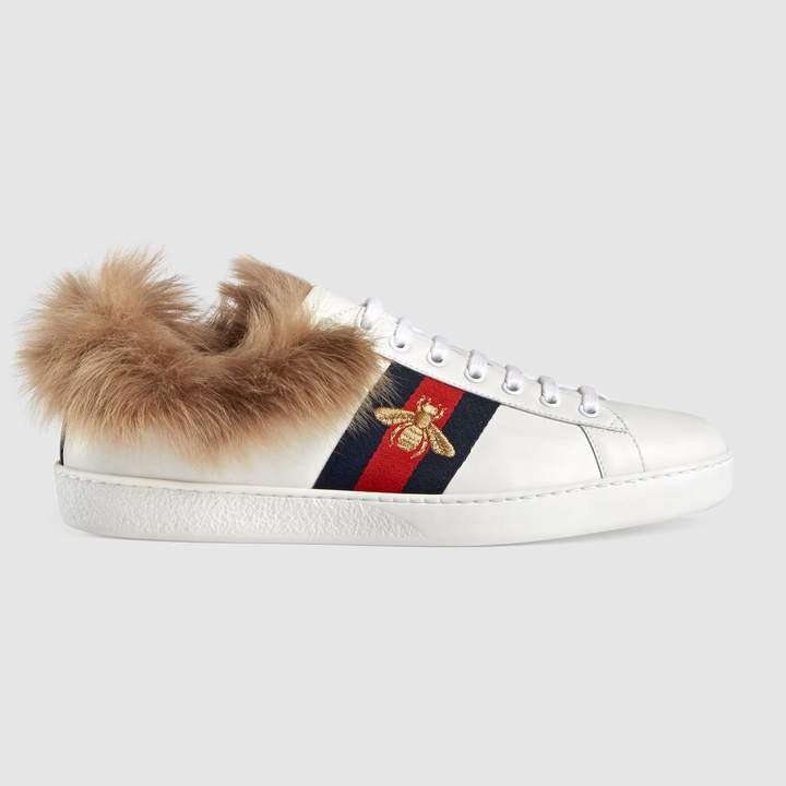 Gucci Ace sneaker with wool | Gucci ace
