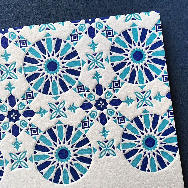 #letterpress detail of our new studio collection inspired by the beautiful architecture of Morocco