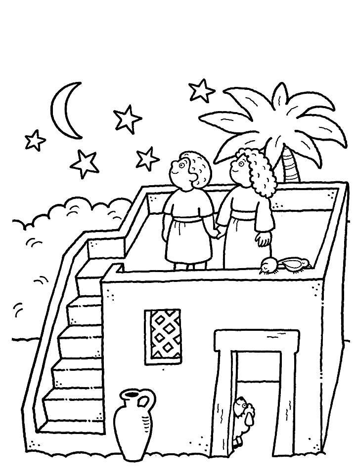"""A sunamita e seu esposo planejam construir um quarto para Eliseu          """"A mulher bondosa de Suném observava Eliseu caminhando pela estra..."""