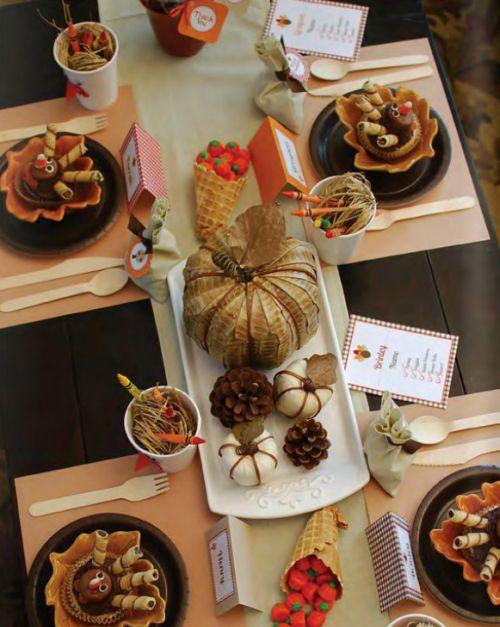mesa para cena de accin de gracias