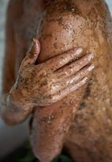 """your skin will never feel or look better! Can be simplified to 3/4 coffee grounds, 1/4 brown sugar and a dash of olive oil to bring it into paste form... YOU MUST TRY! Exfoliates, fights cellulite, gets rid of the red bumps on the backs of arms, moisturizes, the works!"""""""