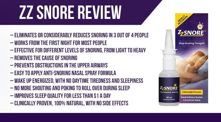 ZZ Snore Review Nasal Spray to Snore Less Sleep More