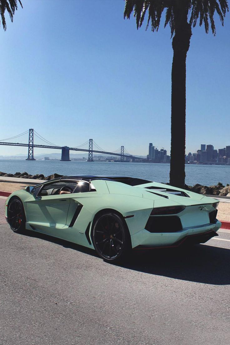 Matte teal and gloss black Lamborghini Aventador  #cars #car #lamborghini #lambo…