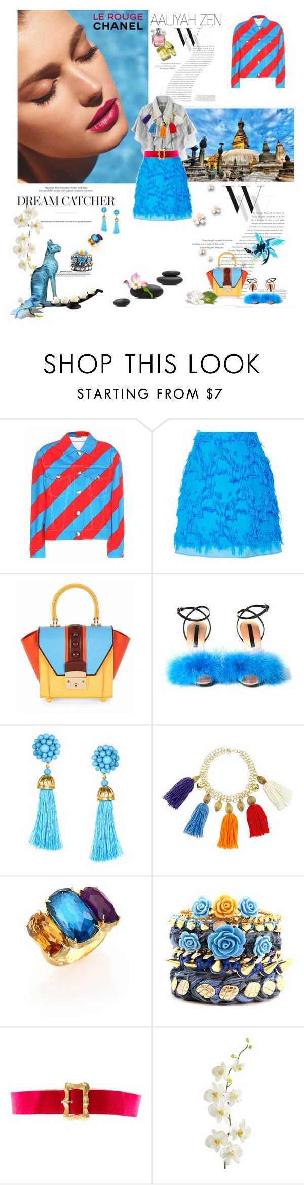 """Aaliyah 2016-075"" by aaliyah ❤ liked on Polyvore featuring Balenciaga, Atlantis, Miu Miu, Marco de Vincenzo, Stella Jean, Marco Bicego, Ettika, Chanel, Pier 1 Imports and Cyan Design"