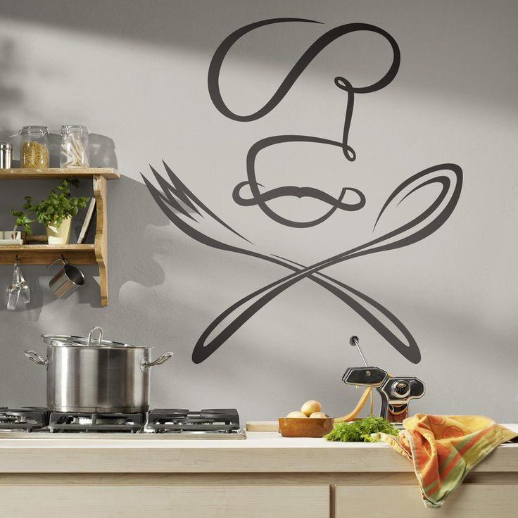Chef cuchara y tenedor - VINILOS DECORATIVOS