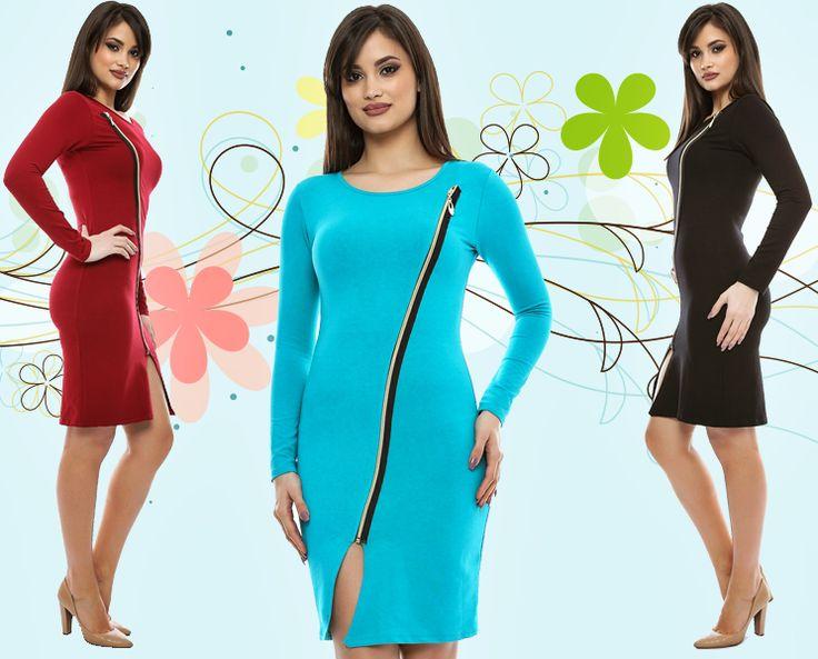 La Adrom Collection a revenit în stoc acest model de rochie cu fermoar, care se poate achiziționa la prețul de doar 20 de lei în sistem en-gros de aici: http://www.adromcollection.ro/rochii/255-rochie-angro-cu-fermoar.html