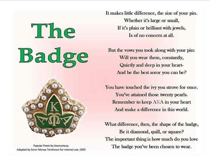 The Badge Followprettypearlsinc Aka 1908 Aka Sorority