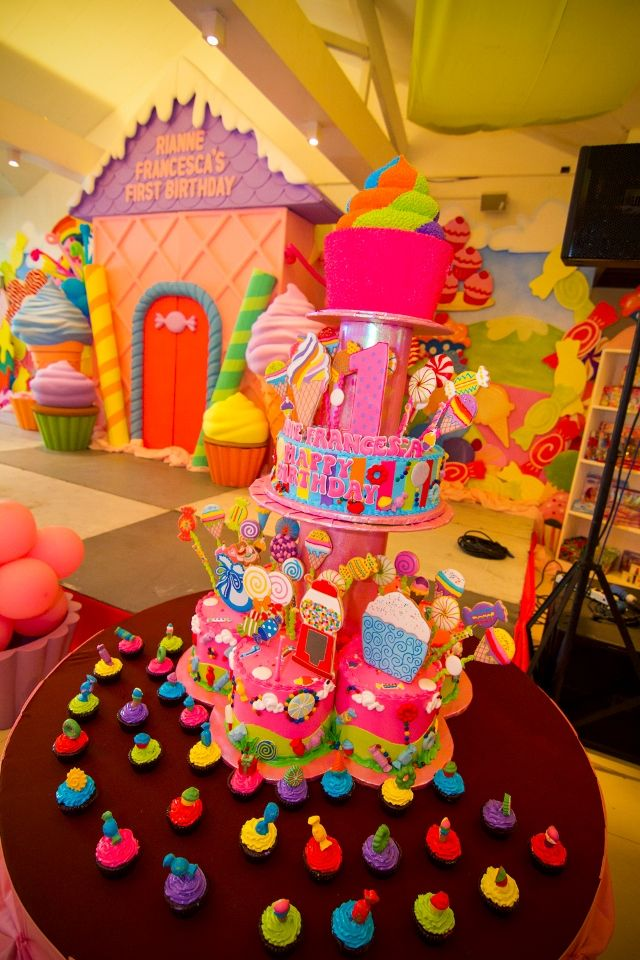 Rianneu0027s Candyland Themed Party u2013 1st Birthday