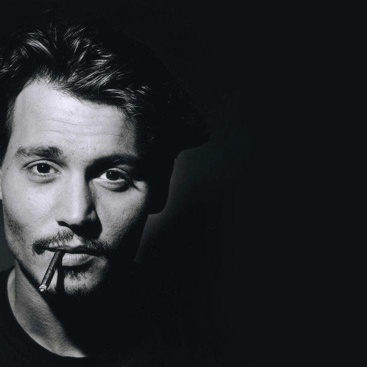 Мужчина, актёр, джонни депп, johnny depp, фотография, черно-белая, портрет, лицо, монохром