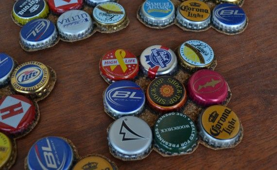 DIY Metal Bottle Cap Coasters - DIY Avenue