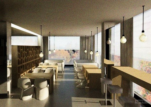 Restaurant Interior Design Books : Books coffee shop by vera lambert via behance interior