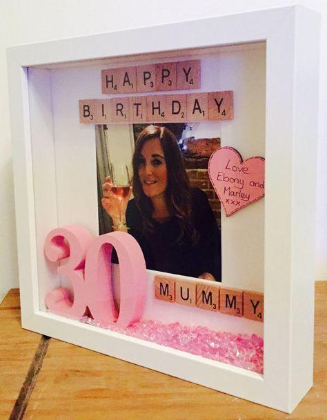 Happy Birthday Frame, Personalized Birthday Gift, Personalized Birthday Picture Frame, Gift for Her,