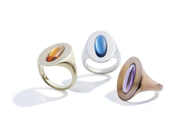 Anelli Granato, Topazio London, Ametista ring oro rosa gold gioiello fashion queriot luxury