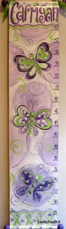 Butterfly Growth Chart. $60.00, via Etsy.