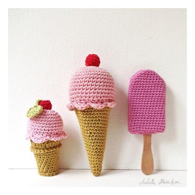 Isabelle Kessedjian amigurumi ice cream