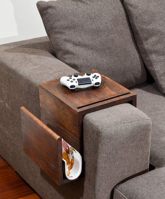Multifunctional Couch Arm Table Wood Arm Rest Tray Couch Sofa Arm