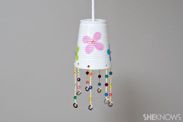 Easy wind chime craft