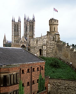 Lincoln Castle built by William the Conqueror 1068. Lincoln, Lincolnshire, England