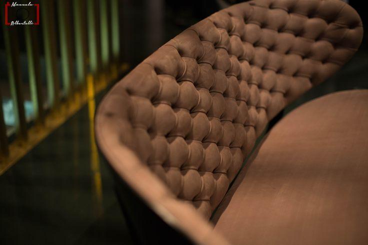 Amazing sofa detail at Baxter Cinema.  Photo is courtesy of Dennis Zoppi and Manuela Albertelli. #Baxtercinema