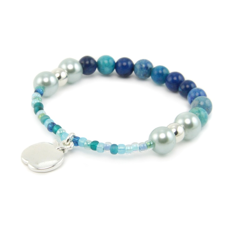 Berries Beaded Bracelet Pippin Kit in Blueberry RRP £7.99 from Burhouse Beads