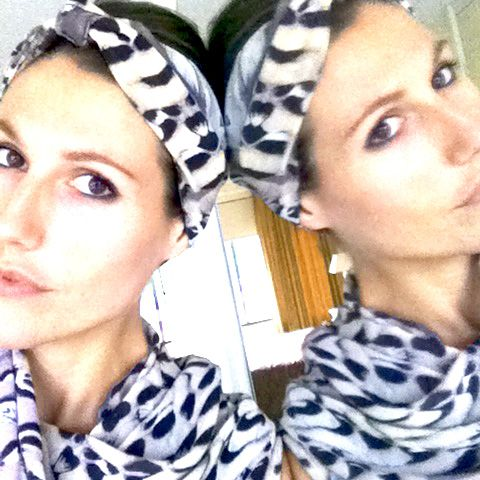 Custom NV print headband and scarf