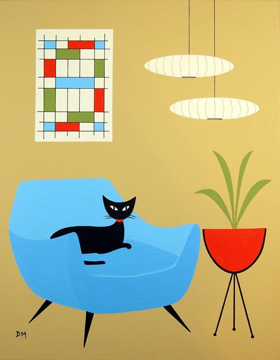 112 best Paintings Mid Century Modern inspired images on Pinterest ...