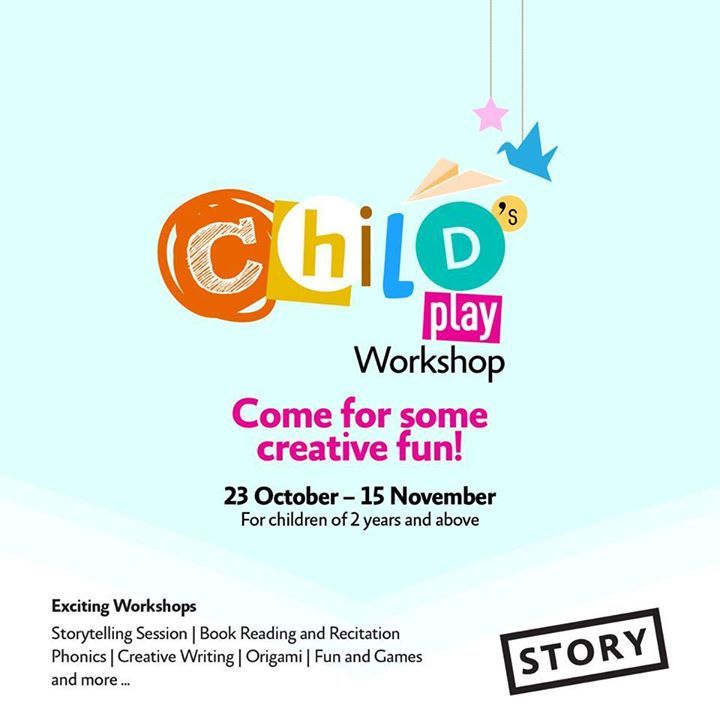 Sunny Sundays are here with a creative twist!  This Sunday's STORYtelling with 'Lazy Rahul'. Fun starts at 11 am tomorrow, 1st November!  See you there!