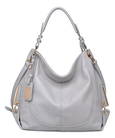 Another great find on #zulily! Gray & Gold Bond Hobo by Moda Luxe #zulilyfinds