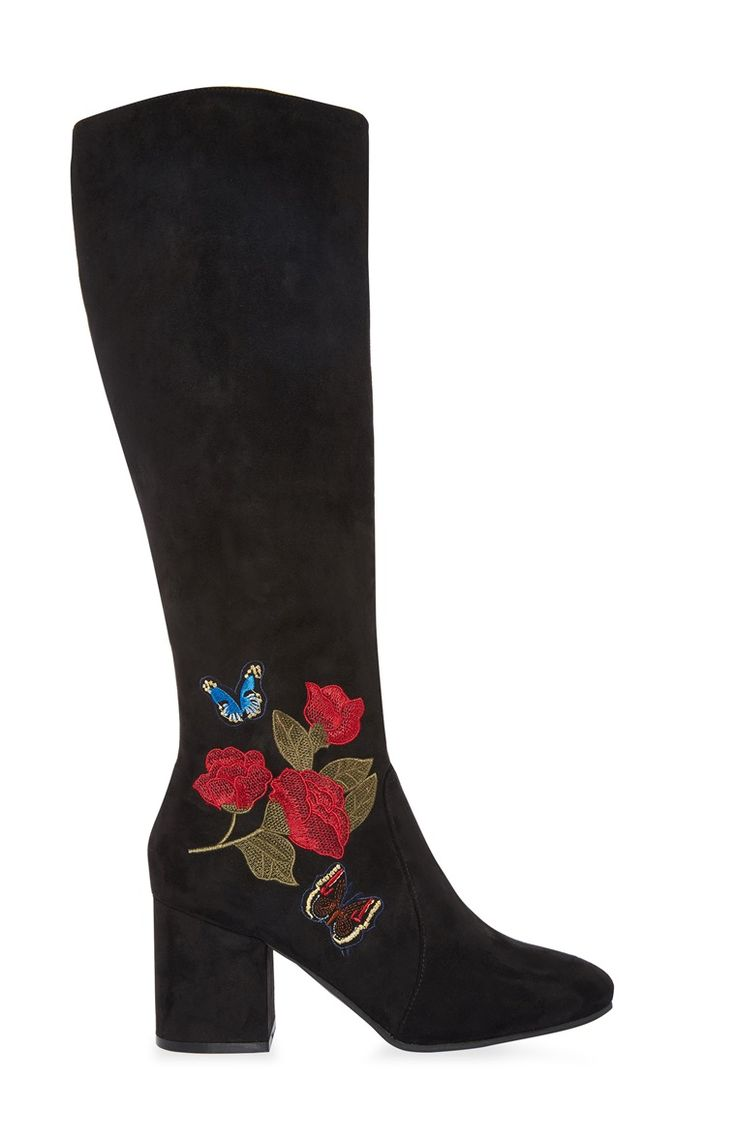 Primark - Knee High Embroidered Boot