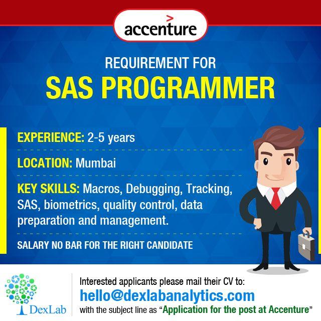 Requirement for #SASProgrammer