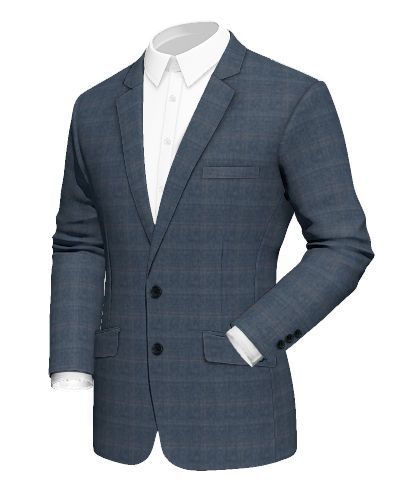 Blue checked wool Blazer - http://www.tailor4less.com/en-us/men/blazers/2425-blue-checked-wool-blazer