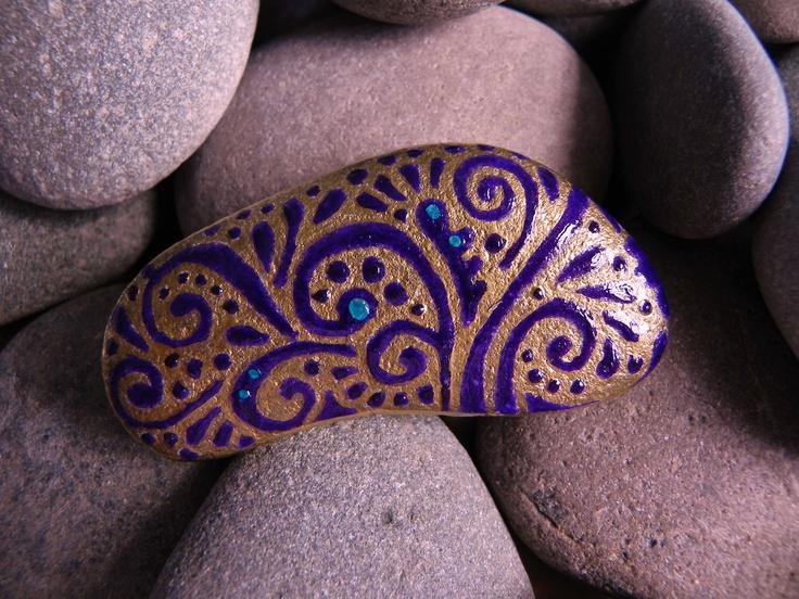 Egyptian Celebration / Painted Rock/ Sandi Pike Foundas. $20.00, via Etsy.