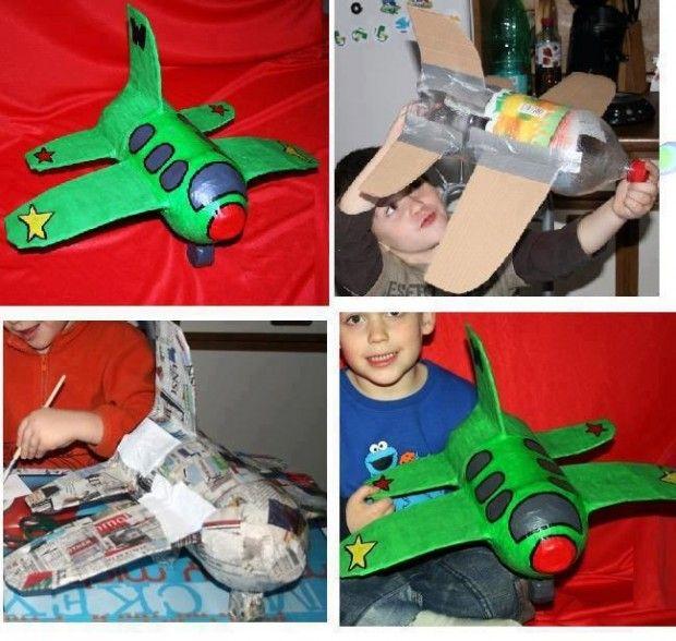 ...Cuántos pequeños podríamos hacer felicez esta Navidad...Qué genial...;) Convierte un envase PET en un avión de juguete | Guate Eco Sostenible