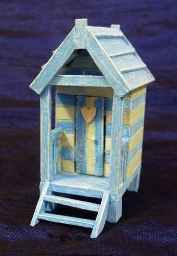 love this little beach hut.....Anything Goes Tiny House Swap Gallery - ORGANIZED CRAFT SWAPS