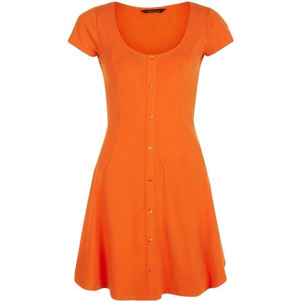 Orange dress maxi short in front long in back
