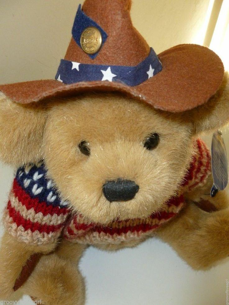 Pickford Brass Button Teddy Bear Cody Friendship Cowboy Hat Brown