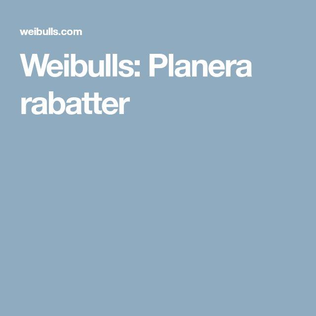 Weibulls: Planera rabatter
