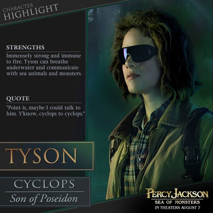 Percy Jackson: Sea of Monsters: Tyson joins the Compendium