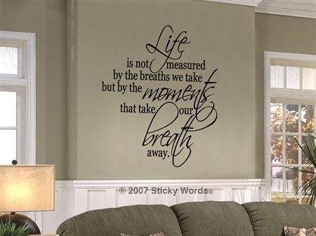 Great selection of quotes for home decor