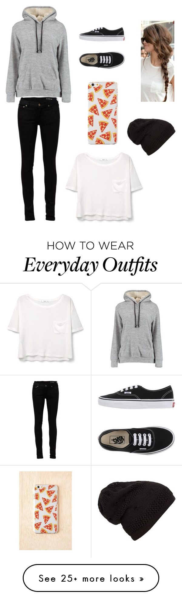 """everyday outfit for school"" by marilyn341 on Polyvore featuring Mode, Yves Saint Laurent, Vans und MANGO"