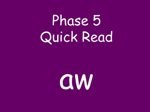 Phase 5 Quick Read PowerPoints