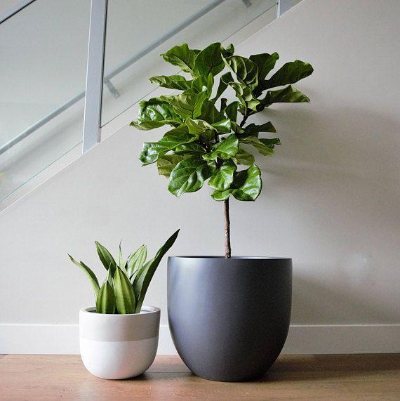 Matte Grey Planter Pot Indoor Outdoor Modern Lightweight Etsy Planter Pots Indoor Gray Planter Planters