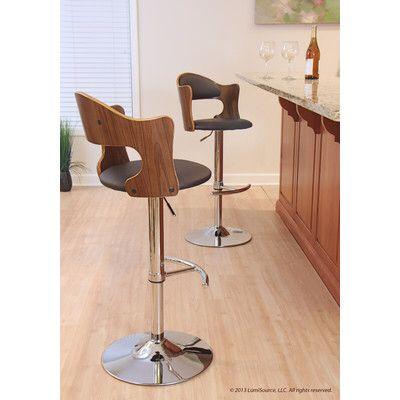 LumiSource Cello Adjustable Height Swivel Bar Stool with Cushion  sc 1 st  Pinterest & 17 best Stools images on Pinterest | Swivel bar stools Counter ... islam-shia.org