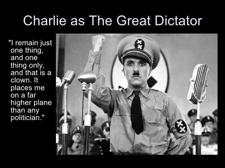 """Résultat de recherche d'images pour """"charlie chaplin le dictateur"""""""